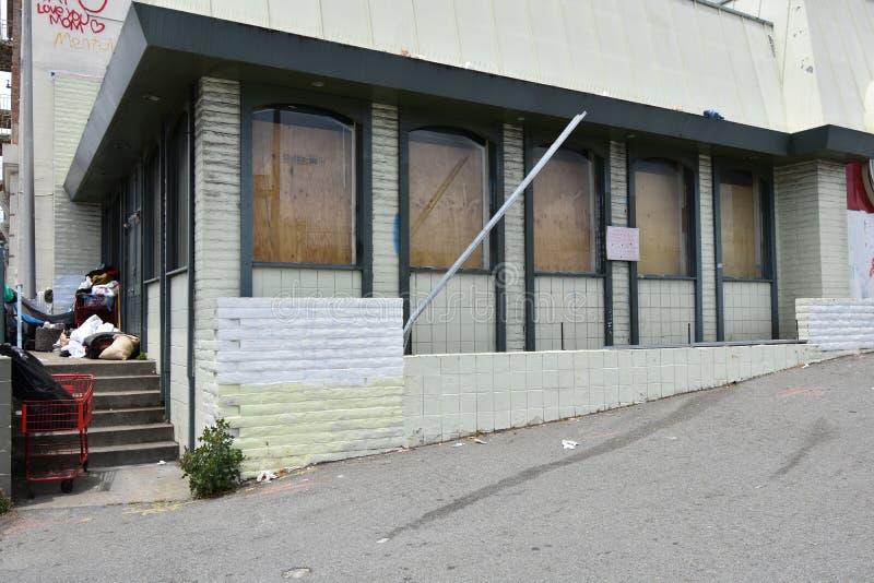 Restaurante abandonado San Francisco, 2 del familia-estilo imagen de archivo libre de regalías