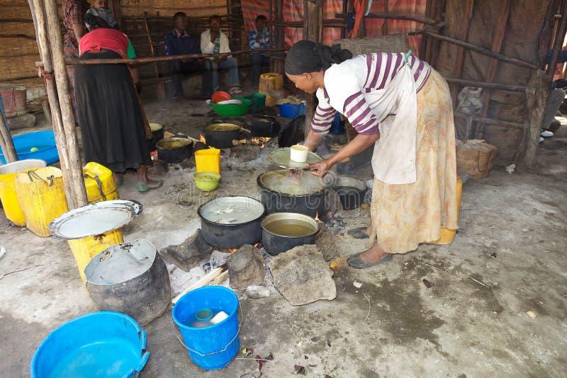 Restaurante africano tradicional foto de archivo libre de regalías