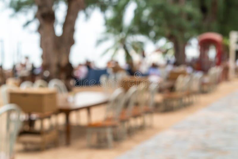 restaurante al aire libre del café de la falta de definición del extracto fotografía de archivo