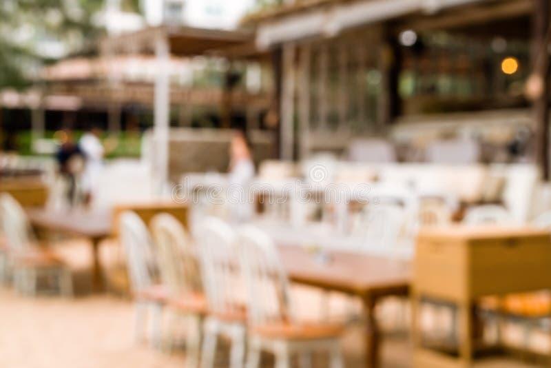 restaurante al aire libre del café de la falta de definición del extracto fotos de archivo libres de regalías