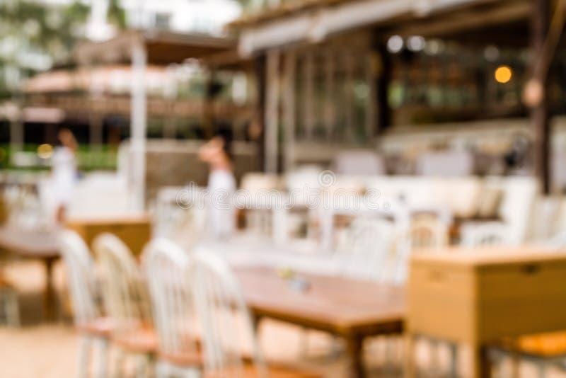 restaurante al aire libre del café de la falta de definición del extracto imagenes de archivo