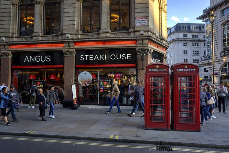 Restaurante Angus Steakhouse imagem de stock