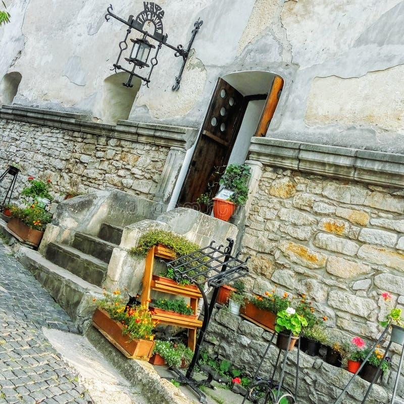 Restaurante antigo do castelo de Olesko imagens de stock