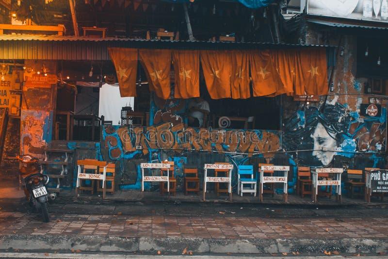 Restaurante bonito, original em Vietnam imagem de stock