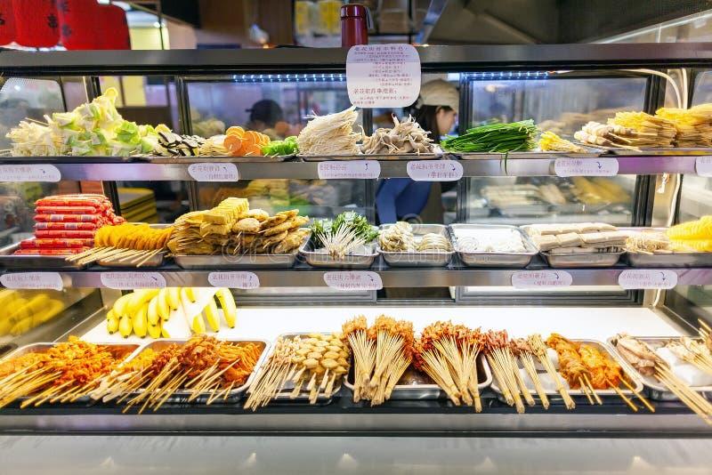 Restaurante Buffet: Spicy Hot Pot fotos de stock