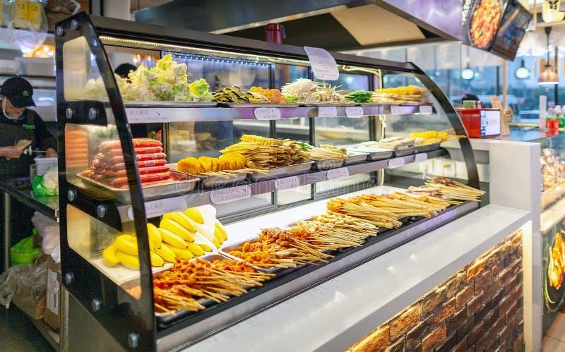Restaurante Buffet: Spicy Hot Pot imagens de stock royalty free