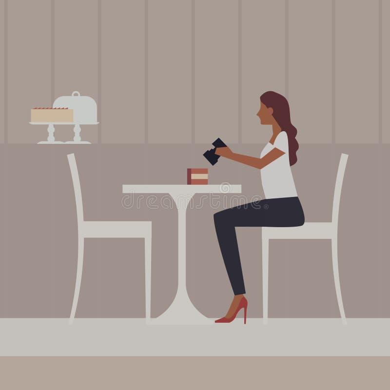 Restaurante, café ou barra ilustração stock