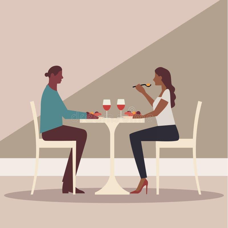 Restaurante, café ou barra ilustração do vetor