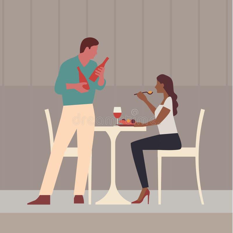 Restaurante, café ou barra ilustração royalty free