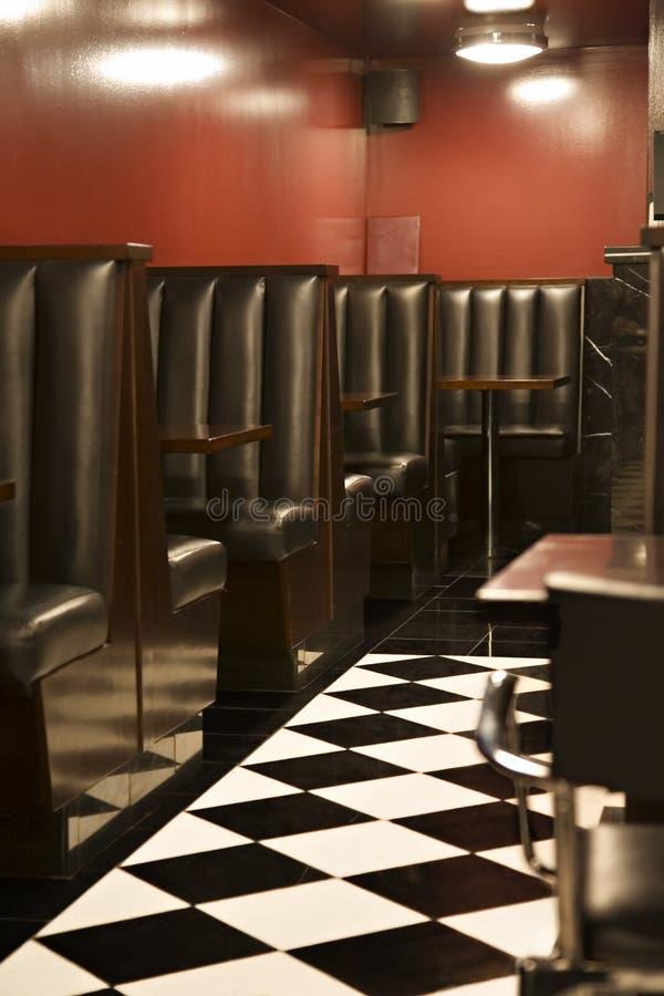Restaurante Checkered do assoalho imagens de stock