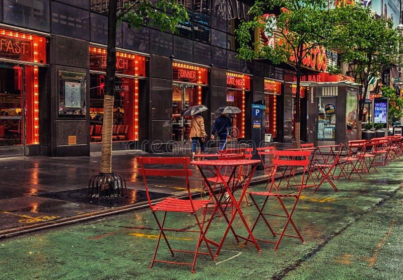 Restaurante Cidade-júnior de New York foto de stock