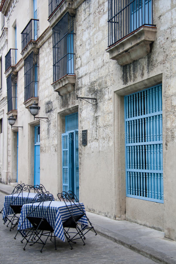 Restaurante cubano ao ar livre fotografia de stock