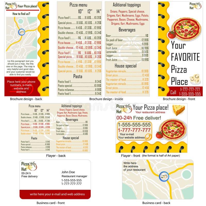 Restaurante da pizza estacionário ilustração stock
