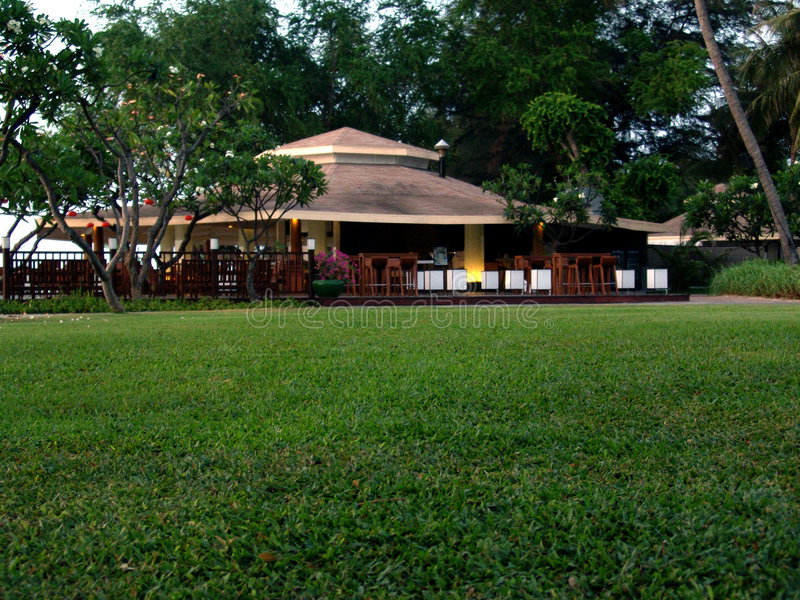 Restaurante da praia em Tailândia fotos de stock