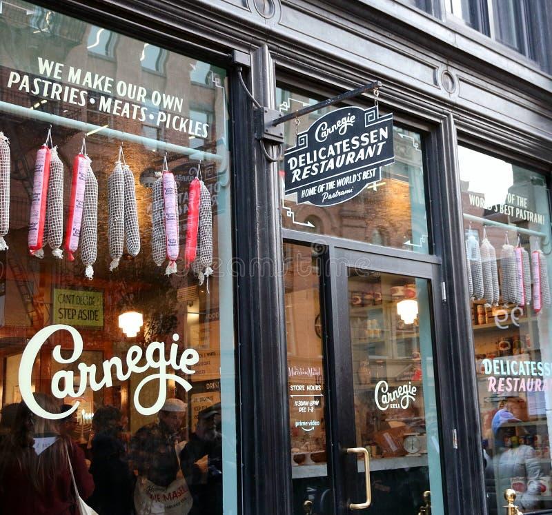 Restaurante das guloseimas de Carnegie fotos de stock
