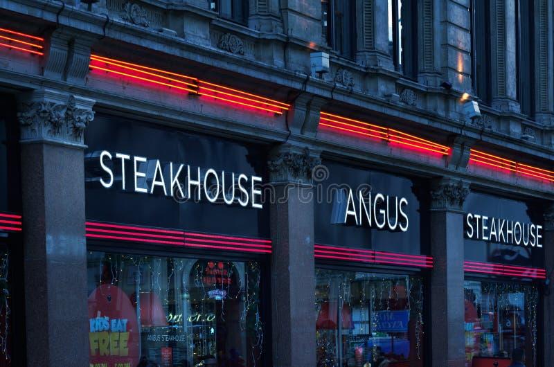 Restaurante de Angus Steakhouse na cidade de Londres, Reino Unido fotografia de stock