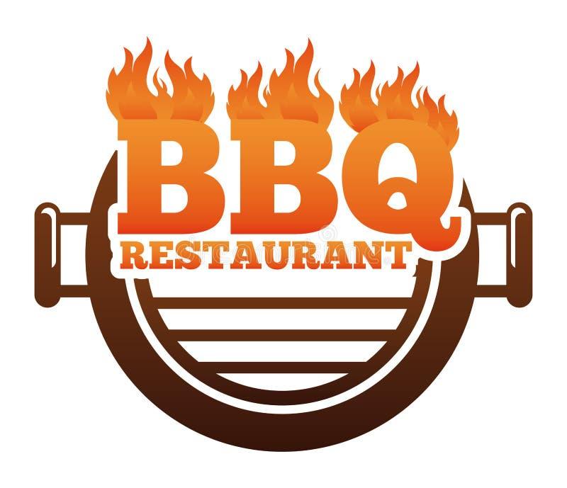 Restaurante de barbacoa ilustración del vector