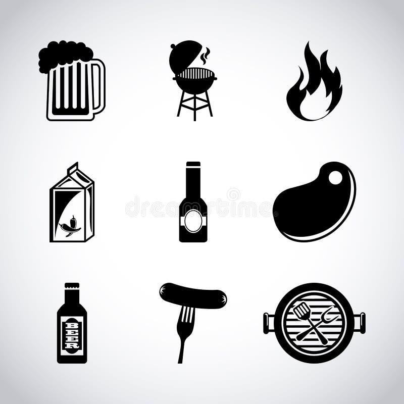 Restaurante de barbacoa stock de ilustración