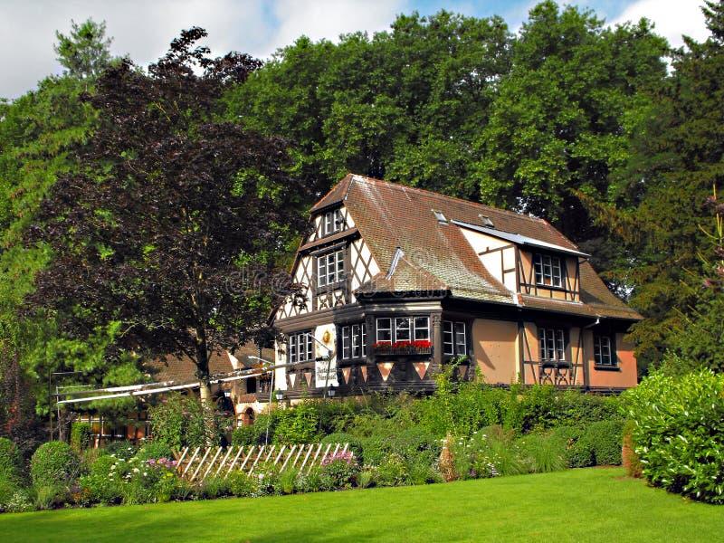 Restaurante de Buerehiesel em Strasbourg, France fotografia de stock