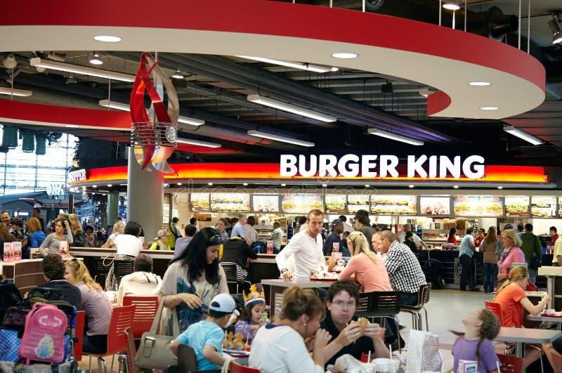 Restaurante de Burger King foto de stock