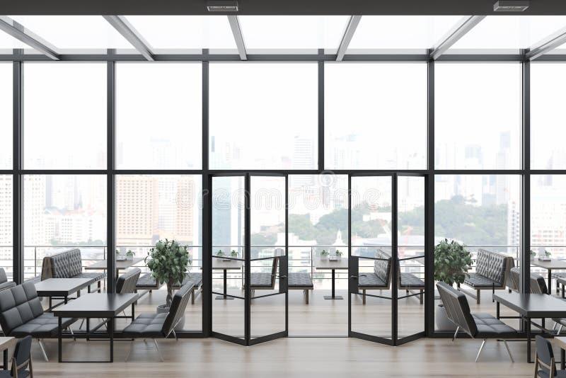 Restaurante de cristal del encanto del tejado, vista lateral libre illustration