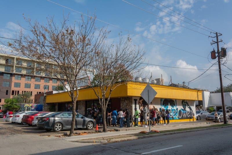 Restaurante de Klub del desayuno en Houston, TX fotografía de archivo libre de regalías