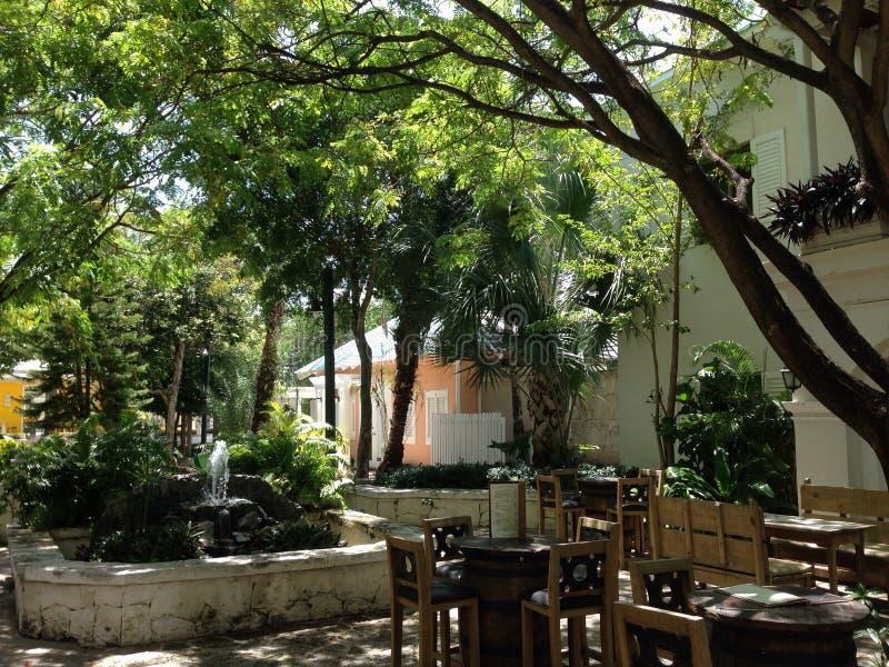 Restaurante de la palma tres de la República Dominicana de Punta Cana fotografía de archivo libre de regalías