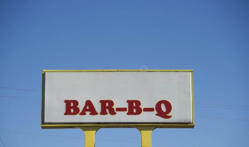 Restaurante de las costillas, de la falda y de la salchicha de la barbacoa fotografía de archivo