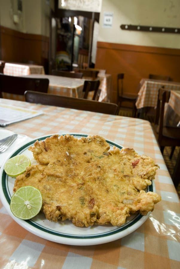 Restaurante de Lima peru do tortilla da lagosta imagem de stock royalty free