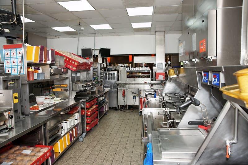 Restaurante de los alimentos de preparación rápida imágenes de archivo libres de regalías