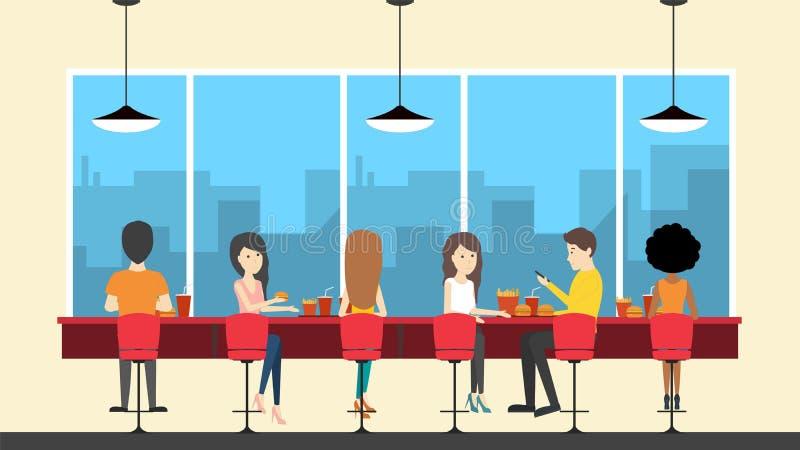 Restaurante de los alimentos de preparación rápida libre illustration