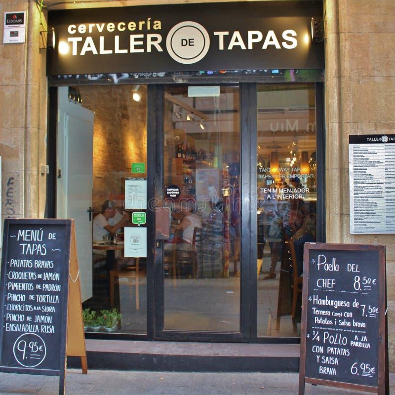 Restaurante de los Tapas en Barcelona fotos de archivo libres de regalías