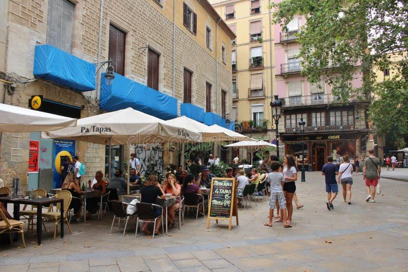 Restaurante de los Tapas en Barcelona imagen de archivo libre de regalías