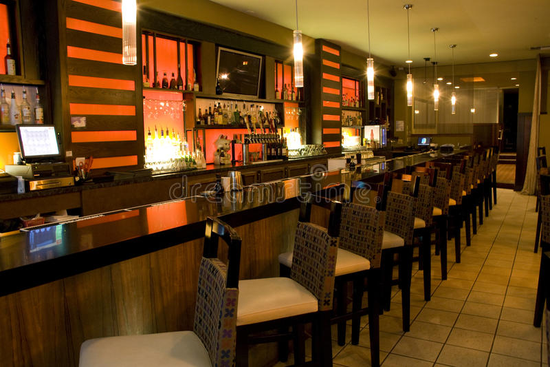 Restaurante de lujo de la barra imagen de archivo libre de regalías
