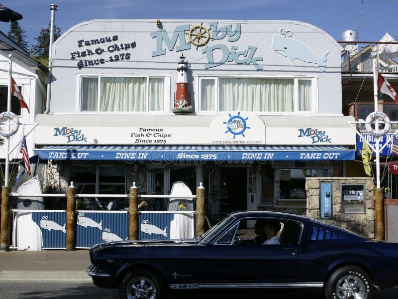 Restaurante de Moby Dick imagem de stock
