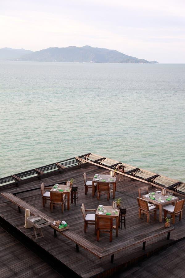 Restaurante de Oceanview. imagem de stock