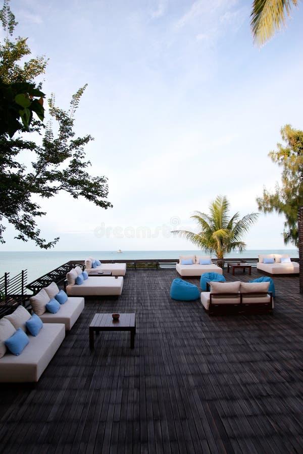 Restaurante de Oceanview. imagens de stock