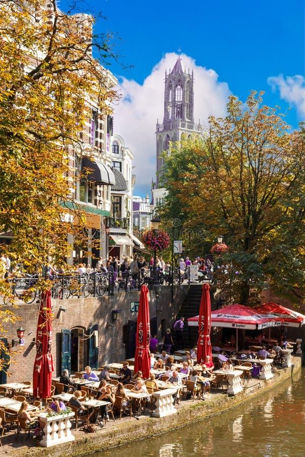 Restaurante de Ouside en Utrecht imágenes de archivo libres de regalías