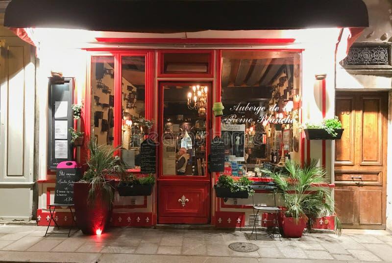 Restaurante de Reine Blanche del la de Auberge de, Saint Louis de Ile, París, fotos de archivo