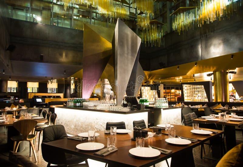 Restaurante de Salão no estilo da fusão fotos de stock royalty free