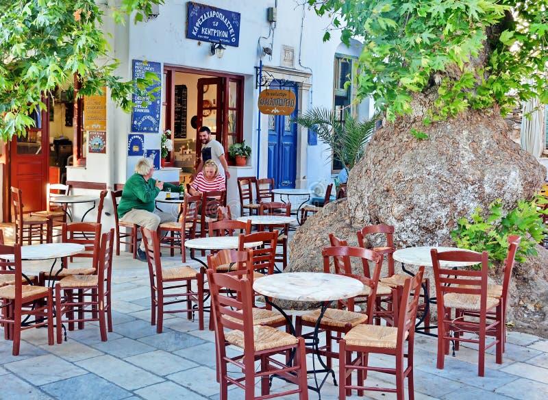 Restaurante de Taverna del Griego fotos de archivo libres de regalías