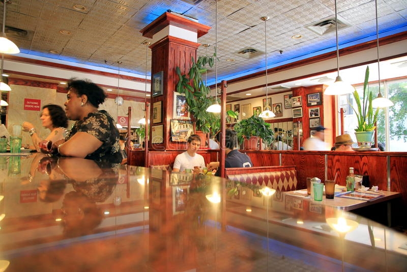Restaurante de Tom imagem de stock