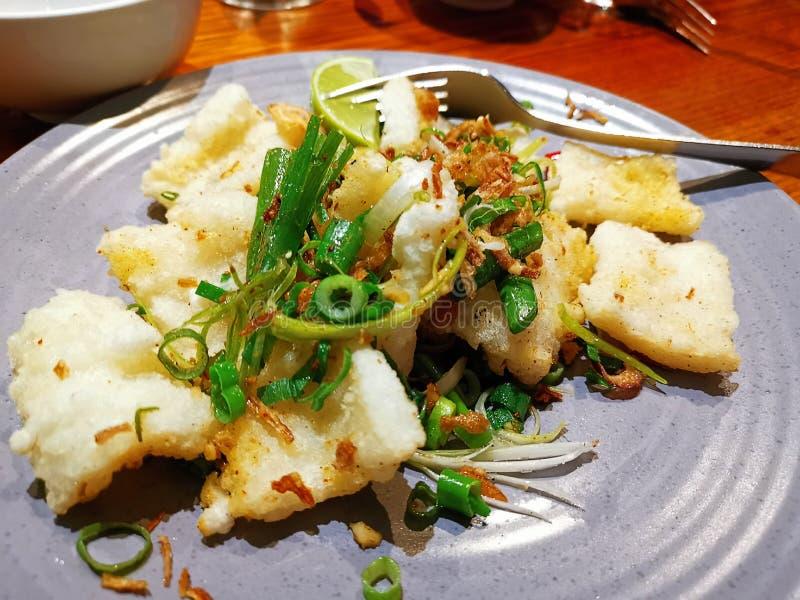 Restaurante de Vienanese do calamar de sal e de pimenta @ foto de stock royalty free
