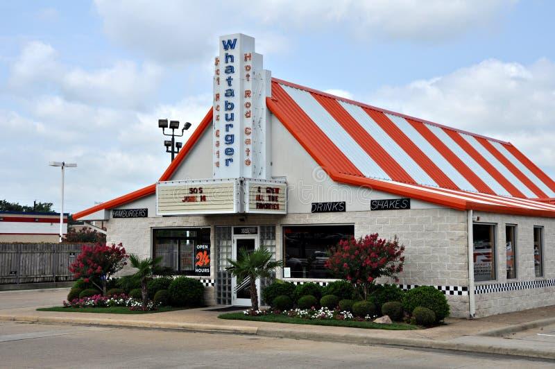 Restaurante de Whataburger em Tyler Texas 2012 foto de stock royalty free