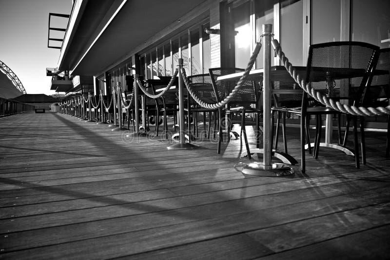 Restaurante del embarcadero en Boston fotos de archivo libres de regalías