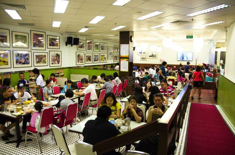 Restaurante del estilo de Hong Kong fotos de archivo