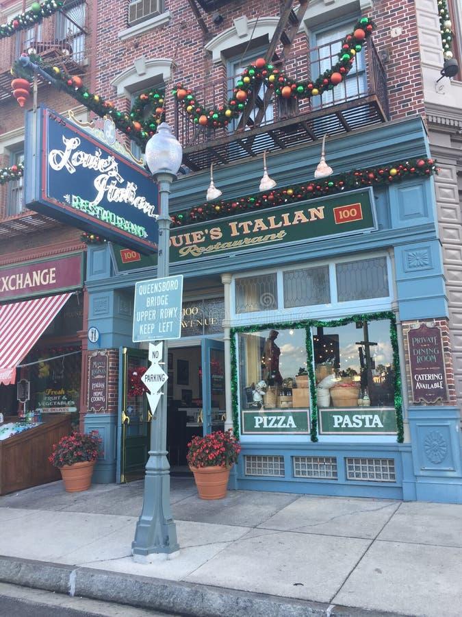 Restaurante del italiano del ` s de Louie foto de archivo libre de regalías