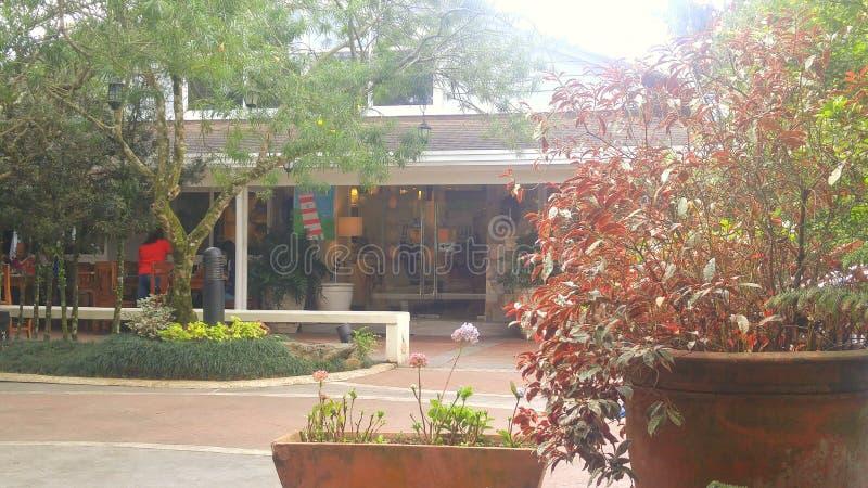 Restaurante del jardín foto de archivo libre de regalías