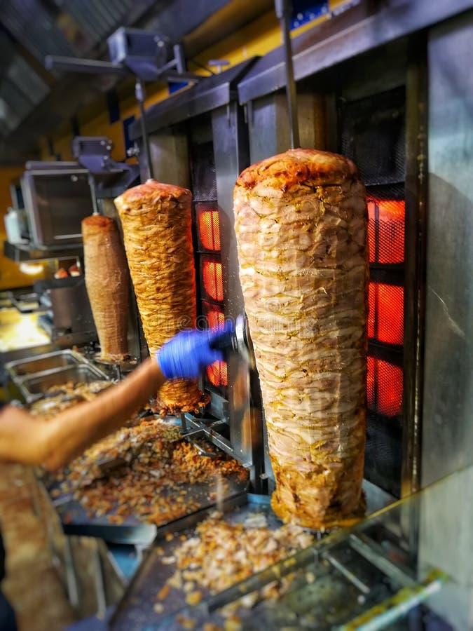 Restaurante del kebab de Doner imagen de archivo libre de regalías