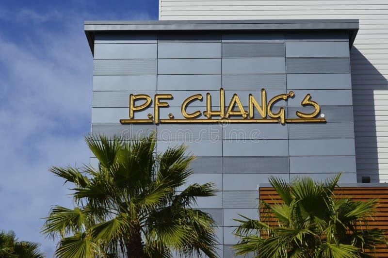 Restaurante del PF Chang imagen de archivo libre de regalías